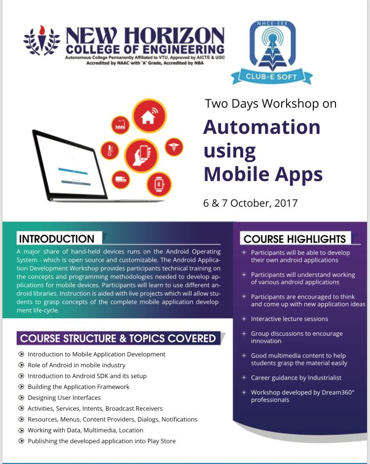 Automation using Mobile Apps – Esoft