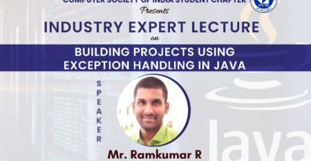 Expert Lecture on Building projects using exception handling in Java