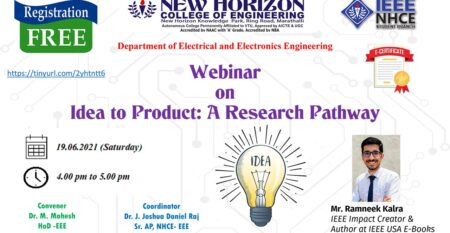 Webinar  on  Idea to Product: Idea to Product: A Research Pathwa